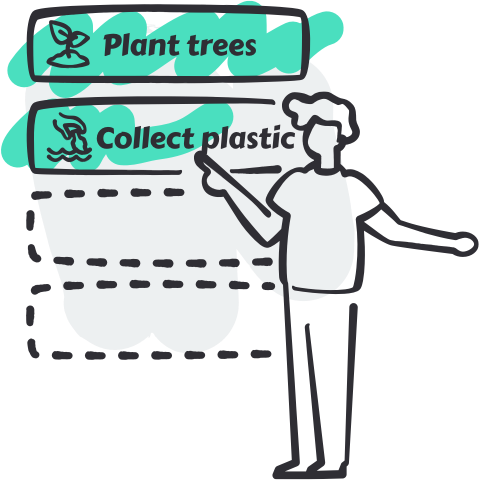 Imagen soporte de un usuario seleccionando un producto