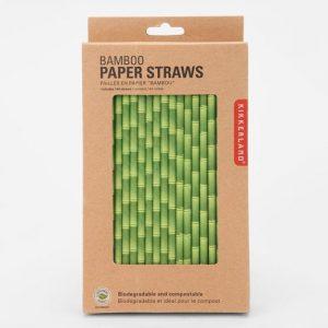 Imagen caja de pajitas de bambú