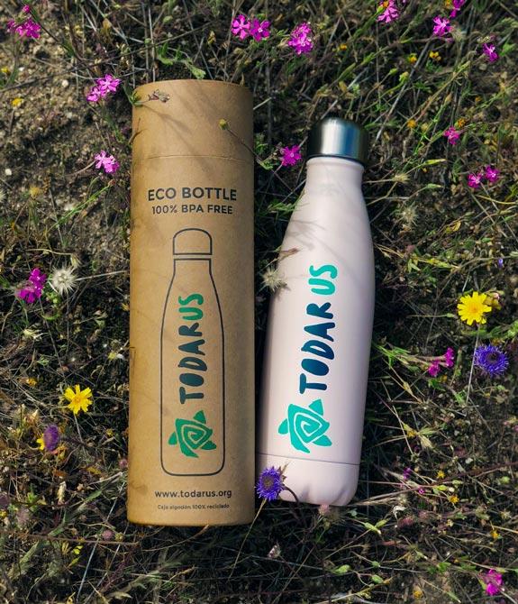 Imagen packaging EcoBottle y botella